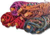 Гамак плетеный усиленный - Верёвка Ø16 мм - 130x200 см - Красный