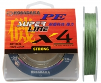 Шнур Kosadaka PE Super Line X4 - Dark Green - 150 метров