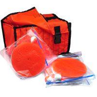 Кружки рыболовные оснащенные - 10 штук + сумка оранжевая