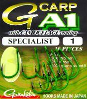 Крючок Gamakatsu A-1 G-Carp Camou Green Specialist