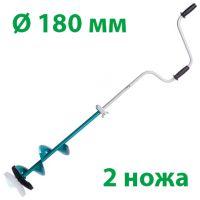 Ледобур Барнаульский Тонар двуручный ЛР-180Д - на 2 ножа