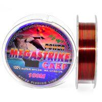 Карповая леска Megastrike Power Carp - трёхцветная - 100 метров