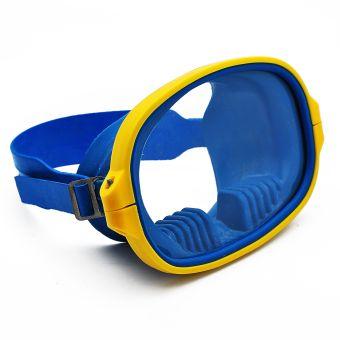 "Маска для подводного плавания ""Акванавт"" - Желто-синяя"