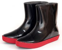 Ботильоны резиновые женские из ПВХ - М-03 ГумаТрест - Черно-Красные