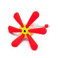 Поплавок для зимней рыбалки - цветок бело-красный - 6 лепестков