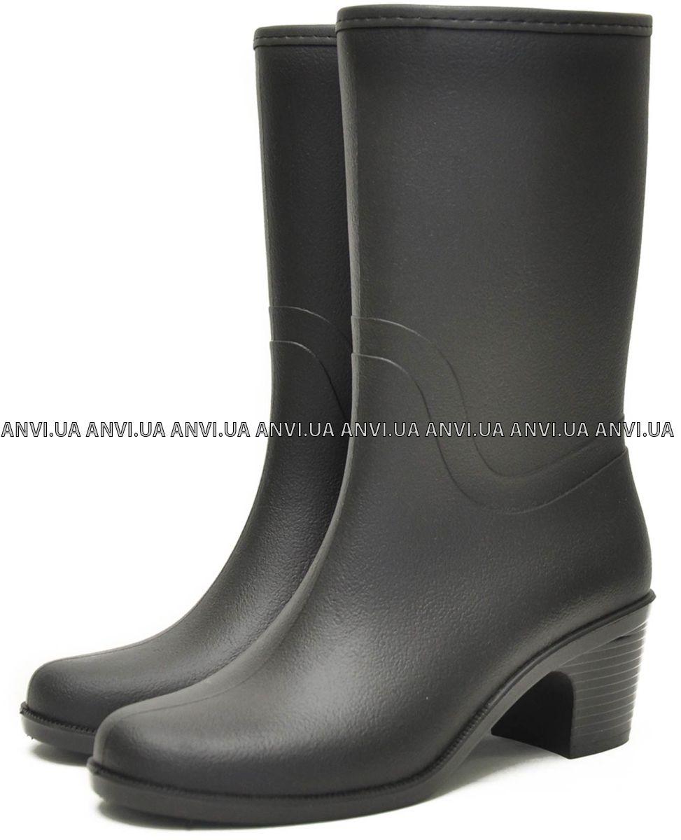 3d06fd158 Женские сапоги Nordman Bellina укороченные на каблуке с мехом Черные Псков  ПС 28-2 МЛ