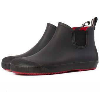 Мужские резиновые ботинки Псков Nordman Beat ПС 30 Черные с красной подошвой