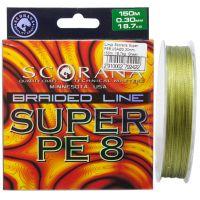 Шнур Scorana Super PE 8 150м - Green