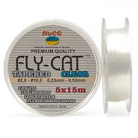 Шок лидер Ntec Fly Cat Clear -  75 метров (5x15)