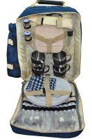 Терморюкзак с набором посуды для пикника на 4 персоны - Chanodug Picnic - Серо-голубой